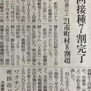 和泉市のワクチン接種が順調に進んでいます