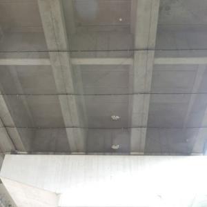 速谷高架橋の保護ネットにボールが ‼