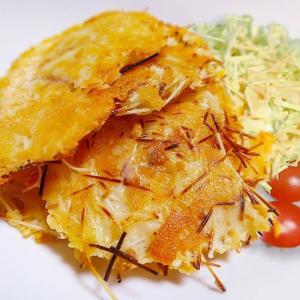 素麺チーズのパリパリ焼き ~夏場に余った素麺でおつまみ作り~