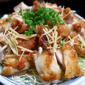 鶏もも肉のカボス叩き ~塩麴とカボス果汁のワンツーパンチ~