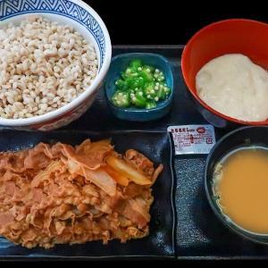 麦とろ御膳 ~吉野家の肉2倍盛り牛皿とで@912円~