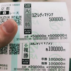京成杯は馬連・ワイドとも1点買いで的中。