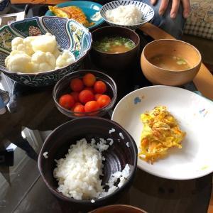 朝ご飯 卵焼き器
