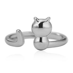 猫シルバーメタルリング・フリーサイズ