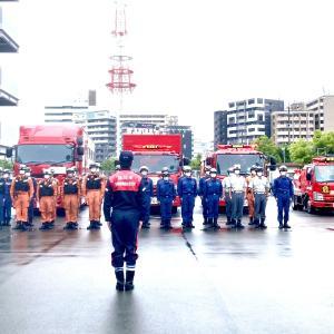 今朝、球磨川が氾濫したことを受けて、先ほど福岡市の消防部隊を派遣しました。