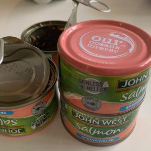 サーモン缶で鮭フレーク と 使えない旦那との子育て