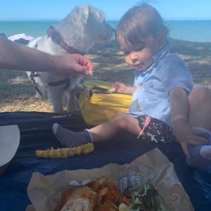 スカボロービーチでピクニック