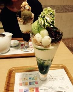 nana's green tea(ナナズ・グリーンティー)でパフェ in 大阪(難波)