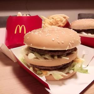 ◆1/19日までビックマックセットがお得だょ~!夜ご飯は久々に夜マック♪◆