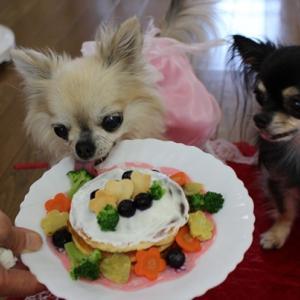 今回のケーキはねっ…でし♪