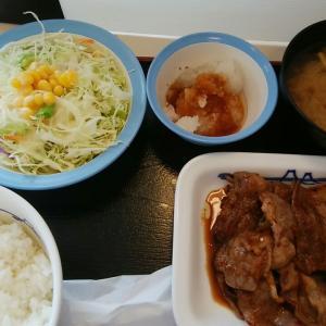 松屋のカルビ焼肉定食&テイクアウト~松屋の牛丼の味はすき焼きですか?