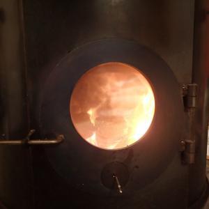 2020年に用意した薪と初焚き