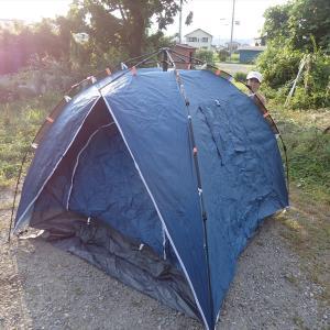 家族で初めての庭キャンプ(2021年7月24~25日)