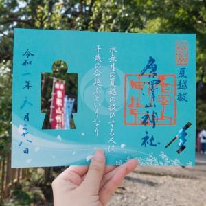 アウトドア nachico唐沢山神社の6月の人形御朱印と水琴窟と紫陽花手水!