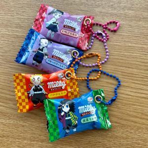 捨てられないお菓子の袋や箱をリサイクルハンドメイド!鬼滅の刃のキーホルダー!