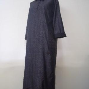 大島紬の着物二柄からワンピース