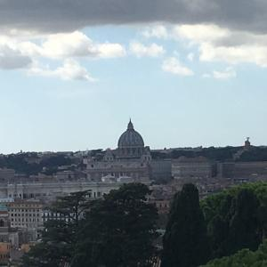 ローマを一望しながらのお食事