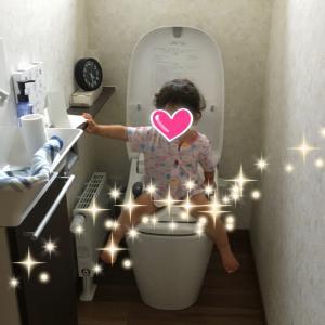 【1歳7ヶ月】トイレでおしっこ!!!