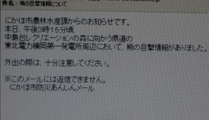 クマ出没警報の延長!!!