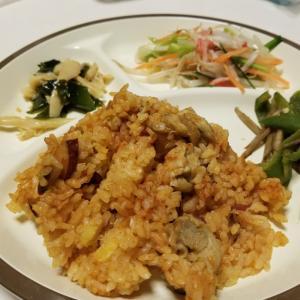 ☆鶏とサツマイモのケチャップピラフなどのお夕飯☆