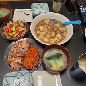 冬瓜、カルパッチョ、鴨などのお夕飯