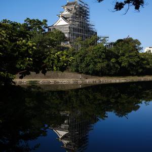 青空の岡山城を写しました