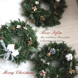 フレッシュクリスマスリース&スワッグ作品のご紹介♡