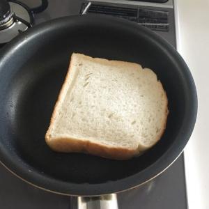マイブームのフライパンでトースト