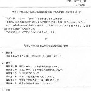 上尾市防災士協議会定期総会結果