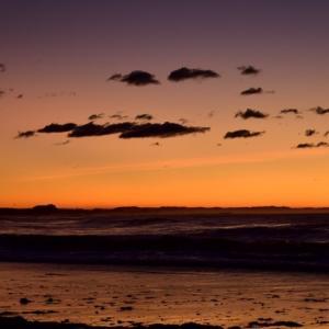 台風明けの北浜海岸と照ヶ崎海岸。