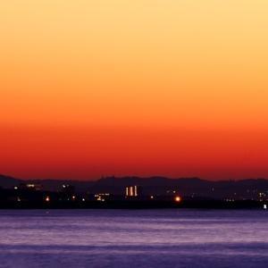 今朝の相模湾の日ノ出。