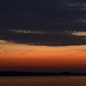 北浜海岸今朝の日ノ出。