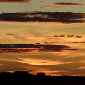 北浜海岸今朝の朝焼け日ノ出。