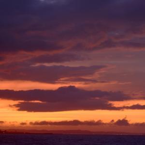 北浜海岸今朝の朝焼け。
