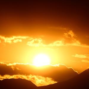 照ヶ崎海岸の夕焼け