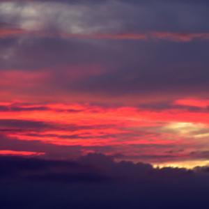 相模湾今朝の朝焼け。