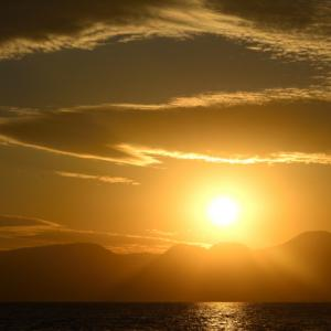 照ヶ崎海岸夕景。