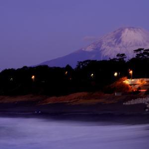 相模湾今朝の日ノ出&富士山。