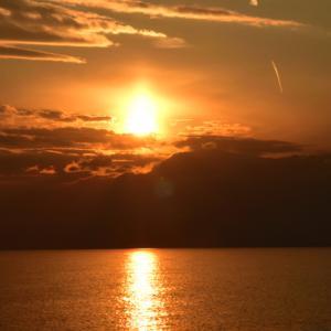 照ヶ崎海岸夕焼け。