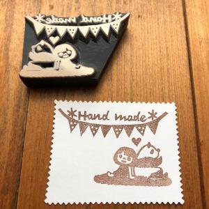ハンドメイド印はんこ~名刺サイズカードに捺せば 販売イベントで大活躍
