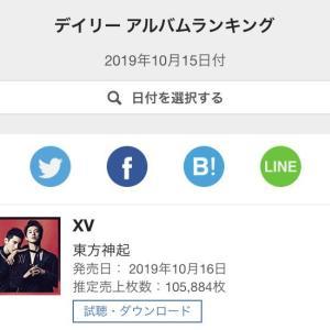 【情報】10/15付 やった~‼ 東方神起 オリコンデイリーアルバムランキング1位‼