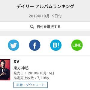 【情報】オリコン公式 今日も1位‼ 東方神起NEWアルバム デイリーアルバムランキング