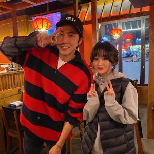 【画像】光州 麻辣湯のお店でユノ とツーショット