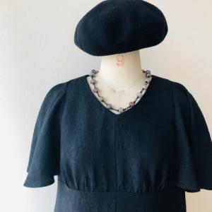 着物着物リメイク・羽織からフリル袖ワンピ