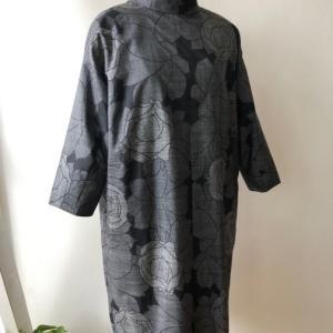 着物着物リメイク・ 大島紬からシンプルワンピース