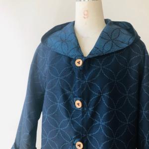 着物着物リメイク・ 大島紬からフードコート