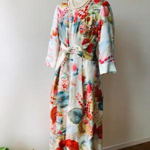 着物着物リメイク・ 振袖からワンピースドレス