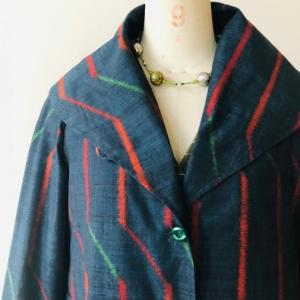 着物着物リメイク・絣からコート