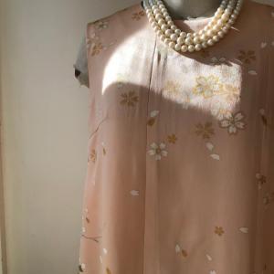 着物着物リメイク・着物からノースリーブドレス