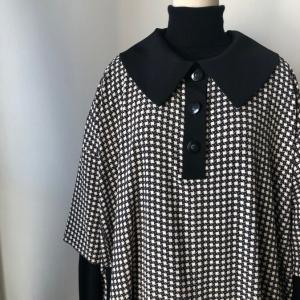 着物着物リメイク/着物から襟が大きなワンピース